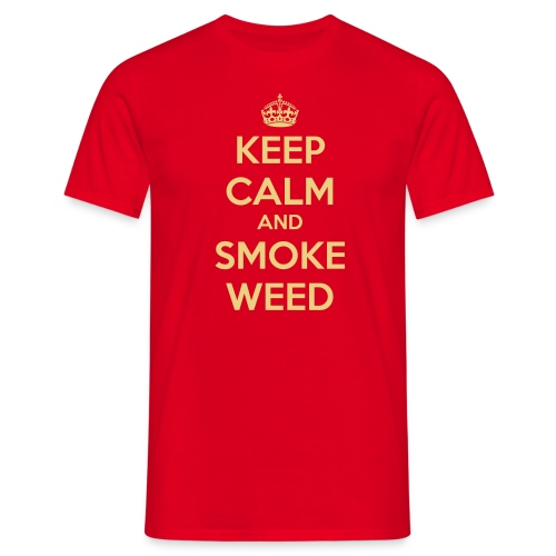 KEEP CALM and SMOKE WEED - T-shirt herr