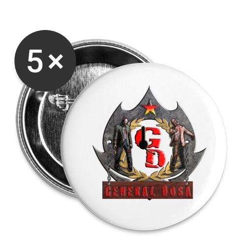 5x GeneralDoSa Buttons - Buttons mittel 32 mm