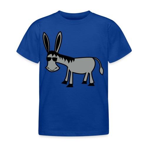 Æsel med solbriller - Børne-T-shirt