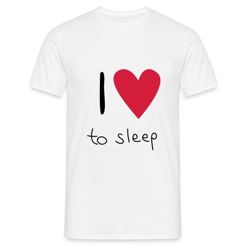 I love to sleep  ♂ ♀ - Männer T-Shirt