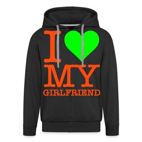 KSGANG i love my girlfriend - Mannenjack Premium met capuchon