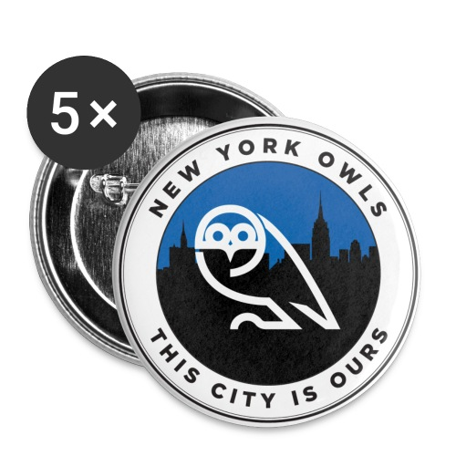 New York Owls Badges (Small) - Buttons small 1''/25 mm (5-pack)