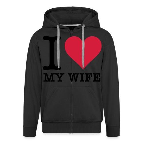 GOONMONEYGANG I LOVE MY WIFE - Mannenjack Premium met capuchon