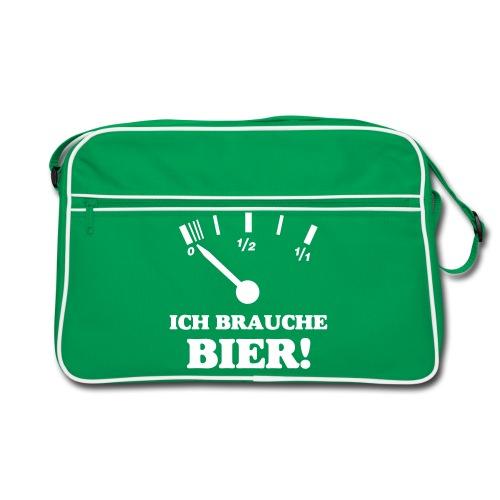 Ich brauche Bier! - Retro Tasche - Retro Tasche