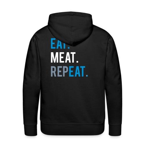 eat meat repeat two mens hoddy - Männer Premium Hoodie