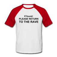 T-Shirts ~ Men's Baseball T-Shirt ~ Return me to the rave. (Glow in the dark)