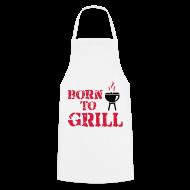 Delantales ~ Delantal de cocina ~ Born to grill