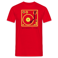 T-Shirts ~ Men's T-Shirt ~ I DJ - Scratch Me Turntable - 2 color flex