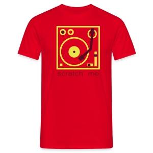 I DJ - Scratch Me Turntable - 2 color flex - Men's T-Shirt