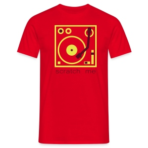 I DJ - Scratch Me Turntable - 2 color flex - Men's T-Shirt