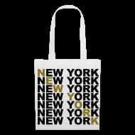 Bolsas y mochilas ~ Bolsa de tela ~ New York (dorado)