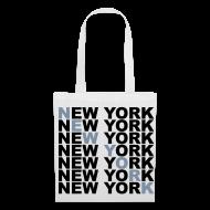 Bolsas y mochilas ~ Bolsa de tela ~ New York (plata)
