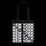 Bolsas y mochilas ~ Bolsa de tela ~ NEW YORK (plateado)