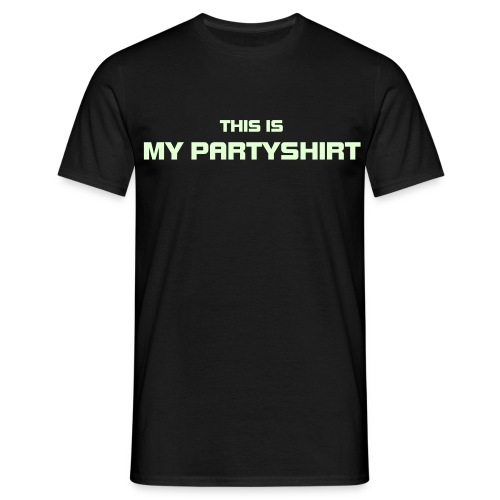 My partyshirt. (Glow in the dark) - Men's T-Shirt