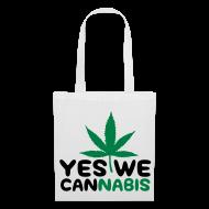 Bolsas y mochilas ~ Bolsa de tela ~ Yes we cannabis (Negro y verde)