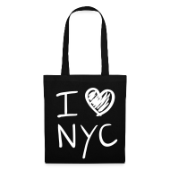Bolsas y mochilas ~ Bolsa de tela ~ I love NYC (blanco)