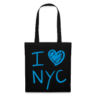 Bolsas y mochilas ~ Bolsa de tela ~ I love NYC (azul)