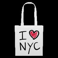 Bolsas y mochilas ~ Bolsa de tela ~ I love NYC(negro y rojo)