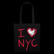 Bolsas y mochilas ~ Bolsa de tela ~ I love NYC (rojo y blanco)