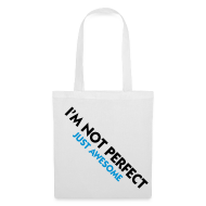 Bolsas y mochilas ~ Bolsa de tela ~ not perfect, just awesome (azul)