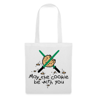 Bolsas y mochilas ~ Bolsa de tela ~ May the cookie be with you (Verde)