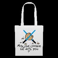 Bolsas y mochilas ~ Bolsa de tela ~ May the cookie be with you (azul)