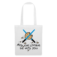 Bolsas y mochilas ~ Bolsa de tela ~ May the cookie be with you (azul)