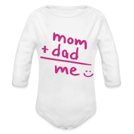 Bodies bebé ~ Body manga larga bebé ~ Mom + Dad = ME (rosa)