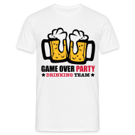 Camisetas ~ Camiseta hombre ~ Game over party