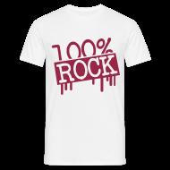 Camisetas ~ Camiseta hombre ~ 100% ROCK (roja)