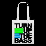 Bolsas y mochilas ~ Bolsa de tela ~ Turn up the bass (blanca)