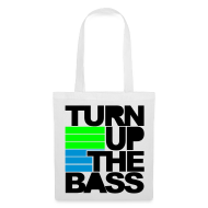 Bolsas y mochilas ~ Bolsa de tela ~ Turn up the bass (blanca)