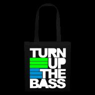 Bolsas y mochilas ~ Bolsa de tela ~ Turn up the bass (negra)