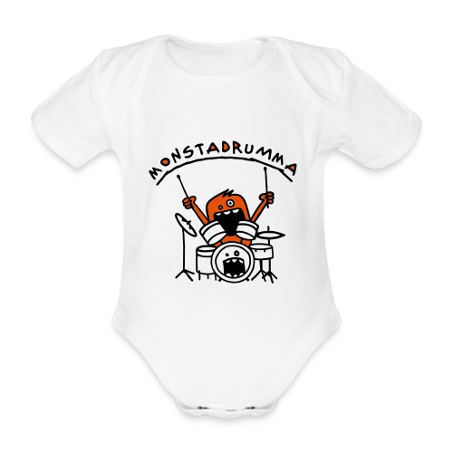 Monstadrumma - Organic Short-sleeved Baby Bodysuit