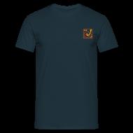 T-Shirts ~ Men's T-Shirt ~ I DJ - classic Small Turntable Logo on the left, 2 color flex
