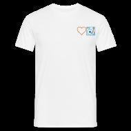 T-Shirts ~ Men's T-Shirt ~ I DJ - Love DJ - Heart DJ - 2 color FLOCK print