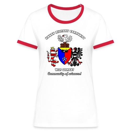 Hanau Military Community - Women's Ringer T-Shirt
