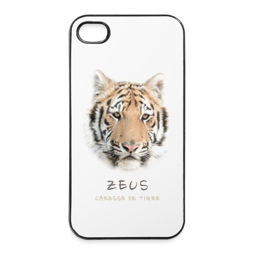 Coque iPhone 4/4S portrait Zeus - Coque rigide iPhone 4/4s