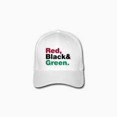 Red, Black & Green. Caps & Hats