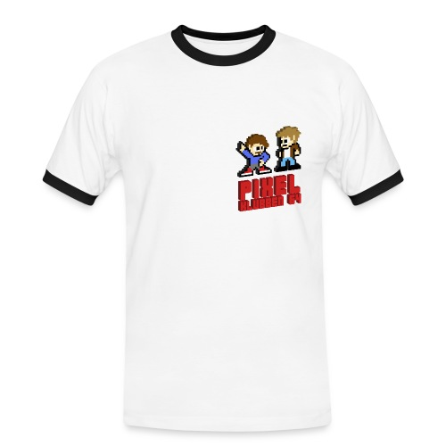 Kontrast-T-shirt herr - Stöd din favoritpodcast Pixelklubben 64!