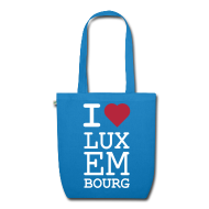 Bags & Backpacks ~ EarthPositive Tote Bag ~ I ♥ Luxembourg - Organic bag