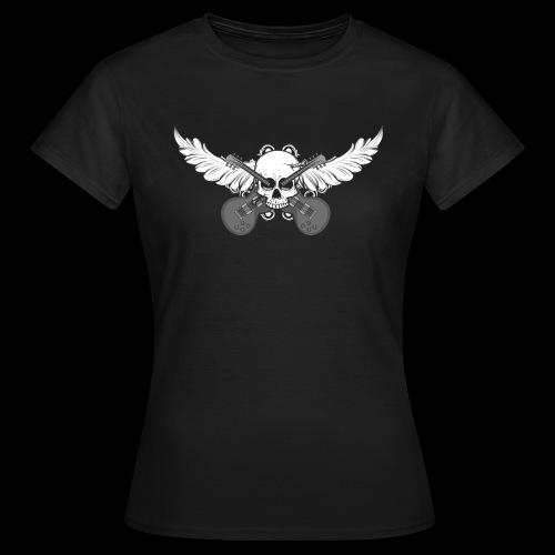 Winged skull with guitars - Frauen T-Shirt