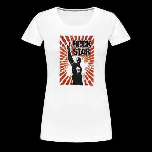 ROCKSTAR Metalhead v1 - Frauen Premium T-Shirt