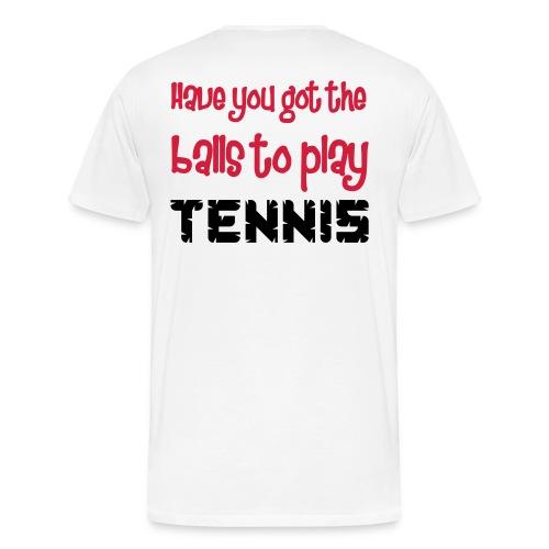 Tennis - Premium T-skjorte for menn