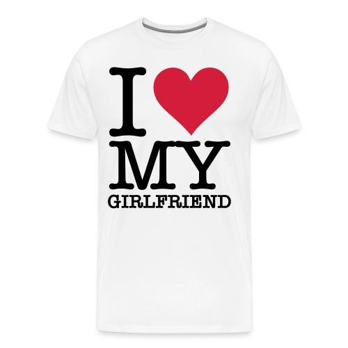 i love - Herre premium T-shirt