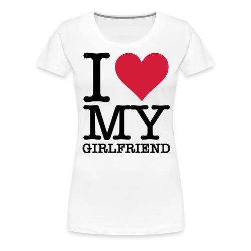 i love - Dame premium T-shirt