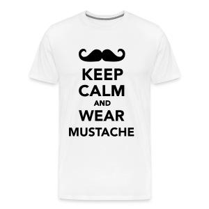 Mustache T-shirt Man - Mannen Premium T-shirt