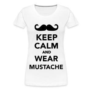 Mustache T-shirt Vrouw - Vrouwen Premium T-shirt