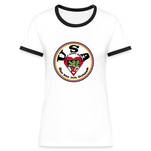 Heimatliebe Albig - Frauen Kontrast-T-Shirt
