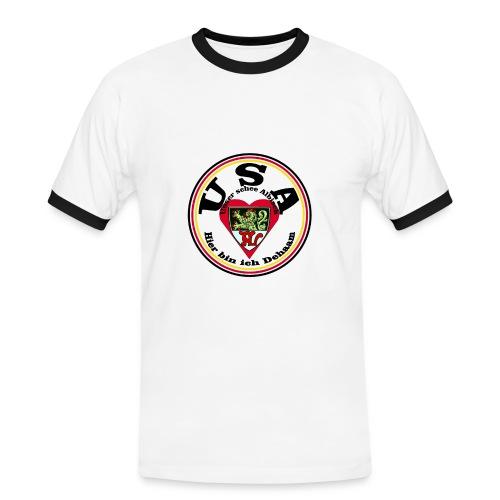 Heimatliebe Albig - Männer Kontrast-T-Shirt